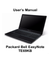 Packard Bell EasyNote TE69KB Operation & User's Manual 120 pages