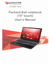 Packard Bell TE69HWP Operation & User's Manual 90 pages