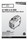 Generac Power Systems IX1600