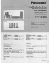 Panasonic SCHDX2 - AMPLIFIER SPEAKER SYSTEM