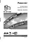 Panasonic SV-AV10A Operating