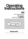 Panasonic AG-TL350B Operating Instructions Manual 26 pages