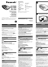 Panasonic RC-700 Operating Instructions 4 pages