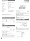 Panasonic RC-CD600 Operating Instructions Manual 8 pages
