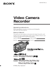 Sony CCD-TRV65 Operating Instructions  (primary manual)