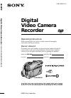 Sony DCR-DVD100