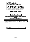 GReddy TYPE-RS BRS-313 CT9A
