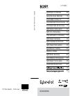 Sony Cybershot Instruction manual