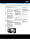 Sony Cybershot Specifications