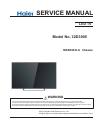 Haier 32D3005 Service manual