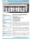 Hameg HM7042-3 Specifications 1 pages