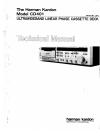Harman Kardon CD401 Technical Manual 42 pages