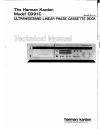 Harman Kardon CD91C Technical Manual 43 pages