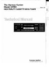Harman Kardon CH160 Technical Manual 37 pages