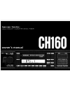 Harman Kardon CH160 Owner's Manual 17 pages