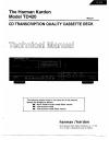 Harman Kardon TD420 Technical Manual 46 pages