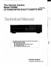 Harman Kardon TD4600 Technical Manual 68 pages