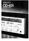 Harman Kardon CD401 Owner's Manual 13 pages