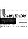 Harman Kardon TD4400 Owner's Manual 13 pages