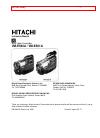 Hitachi VME-520A - Camcorder