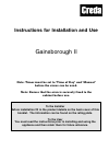 Indesit Gainsborough II Instructions For Installation And Use Manual 36 pages