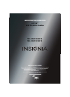 Insignia NS-24LD100A13 Important Information Manual 8 pages