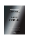Insignia NS-24LD120A13 Information Importante 12 pages