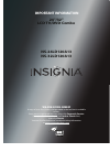 Insignia NS-24LD120A13 Important Information Manual 8 pages