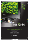 Insignia NS-24LD120A13 Brochure & Specs 2 pages