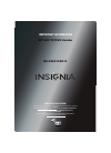 Insignia NS-29LD120A13 Important Information Manual 8 pages