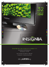 Insignia NS-32LD120A13 Specifications 2 pages