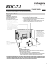 Integra RDC-7.1 Manual 8 pages