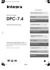 Integra DPC-7.4 Instruction Manual 48 pages