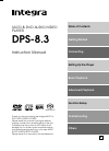 Integra DPS-8.3 Instruction Manual 76 pages