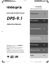 Integra DPS-9.1 Instruction Manual 64 pages