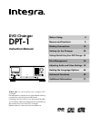 Integra DPT-1 Instruction Manual 80 pages