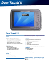 Itronix Duo Touch II Datasheet 2 pages
