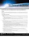 Itronix GoBook Q-200 Technical Bulletin 6 pages
