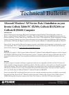 Itronix Duo-Touch Product Support Bulletin 1 pages