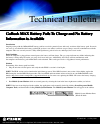 Itronix GoBook MAX Product Support Bulletin 2 pages
