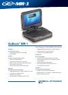 Itronix GoBook MR-1 Datasheet 2 pages