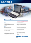 Itronix GoBook XR-1 Datasheet 2 pages