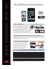 JVC iPod/iPhone Connection Manual 1 pages