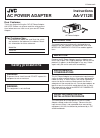 JVC AA-V112E Instructions 2 pages