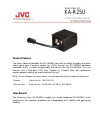 JVC GY-HD250U - 3-ccd Prohd Camcorder Product information manual