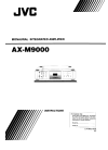 JVC AX-M9000 Instructions Manual 24 pages