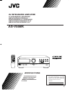JVC AX-V55BK Instructions Manual 30 pages
