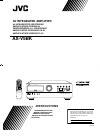 JVC AX-V5BK Instructions Manual 34 pages