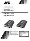 JVC KS-AX4550 Instructions Manual 20 pages
