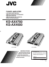 JVC KS-AX4500 Instructions Manual 20 pages